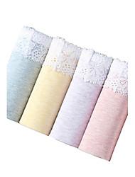4Pcs/Lot Women's Fashion Sexy Briefs Lace-up Cotton Spandex Underwear