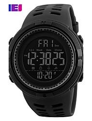 Недорогие -Муж. Спортивные часы Смарт Часы Наручные часы Цифровой 30 m Защита от влаги Календарь Секундомер силиконовый Группа Цифровой Кулоны Мода Элегантный стиль Разноцветный -  / Два года / Хронометр