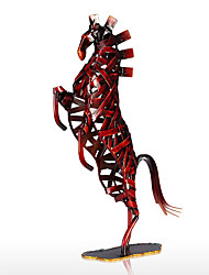 cheap -Metal Red Weaving Horse Figurine Iron Miniature Figurine Home Decor Animal Craft Gift For Home Office