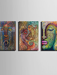 E-HOME Stretched Canvas Art  Buddha And Fish Decoration Painting One Pcs