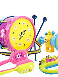 Недорогие -Барабанная установка Аксессуары для кукольного домика Игрушечные инструменты Обучающая игрушка Игрушки Барабанная установка Пластик Куски