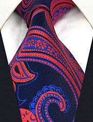 cheap -CS12 New For Mens Neckties Classic Blue Red Abstract 100% Silk Fashion Dress Handmade