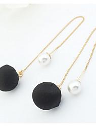 Women's Stud Earrings Drop Earrings Hoop Earrings Imitation Pearl Basic Unique Design Logo Style Pearl Friendship Turkish Fashion Gothic