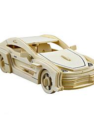 Недорогие -Игрушечные машинки 3D пазлы Пазлы Автомобиль Лошадь Своими руками моделирование Дерево
