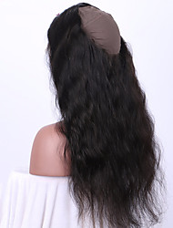cheap -Body Wave 360 Lace Frontal Closure With Baby Hair Natural Color 100% Human Hair Brazilian Remy Hair Stitched Cap