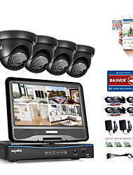 cheap -SANNCE® 8CH 4PCS 720P Weatherproof Surveillance Security System 4IN1 1080P LCD DVR Monitor Supported TVI Analog AHD