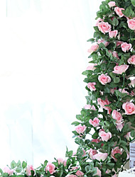 cheap -220cm Set of 16 Flowers  High Simulation Rose Flower Vine  Home Decoration Artificial Flower
