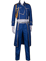 cheap -Inspired by Fullmetal Alchemist Roy Mustang Anime Cosplay Costumes Cosplay Suits Solid Coat Pants Scarf For Male