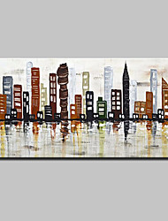 cheap -Hand-Painted Knife City Oil Paintings On Canvas Modern Abstract Wall Art Picture For Home Decoration Ready To Hang