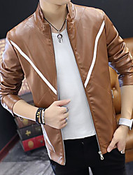 cheap -Men's Modern/Contemporary Jacket-Solid Colored