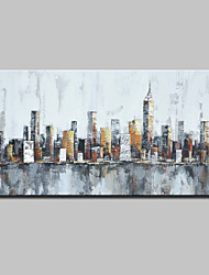 cheap -Large Hand-Painted Knife Oil Painting On Canvas Modern Abstract City Wall Art Pictures For Home Decoration Ready To Hang