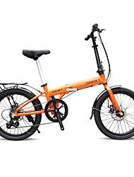 abordables -Vélo pliant Cyclisme 7 Vitesse 20 pouces SHIMANO 30 Frein à Double Disque Sans Amortisseur Pliage Ordinaire Aluminium
