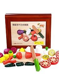 abordables -Modelos de exhibición Juegos de Rol Juguetes Verduras Magnética Agarre práctico Madera Niños Piezas