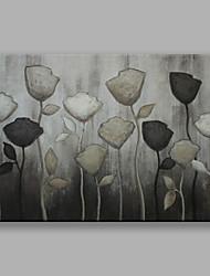 economico -Dipinta a mano Floreale/Botanical Orizzontale,Contemporaneo Fiore Astratto Un Pannello Tela Hang-Dipinto ad olio For Decorazioni per la