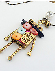 Недорогие -Муж. Жен. Искусственный жемчуг Ожерелья с подвесками Ожерелья-цепочки - На заказ Уникальный дизайн Классика Винтаж Богемные