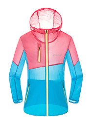 cheap -Women's Casual Sports Indoor Outdoor clothing Leisure Sports Sport Summer Trench Coat,Mixed Color Hooded Long Sleeve Regular Polyester