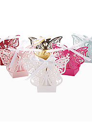 cheap -Round Square Others Pearl Paper Favor Holder with Ribbons Printing Favor Boxes - 50