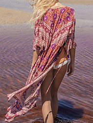 cheap -Women's Boho Bandeau Cover-Up Mesh Polyester Embroidery