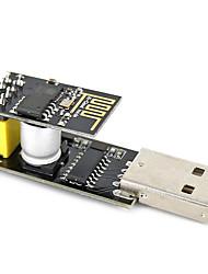 Usb to esp-01 adatper black esp-01 esp8266 module sans fil wi-fi