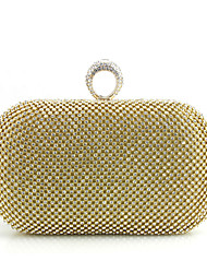 Women Bags Spring/Fall All Seasons Polyester Metal Clutch Metal Chain for Event/Party Gold
