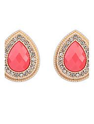 abordables -Mujer Chica Pendientes colgantes Cristal imitación de la esmeralda Diseño Básico Diamantes Sintéticos joyería película Joyería de Lujo
