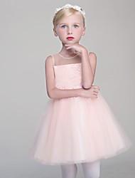 cheap -A-line Princess Short / Mini Sleeveless Flower Girl Dress