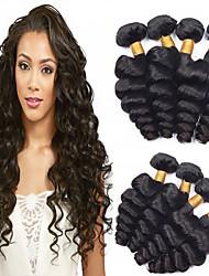 abordables -4 paquetes Cabello Brasileño Ondulado Amplio Cabello Virgen Tejidos Humanos Cabello Cabello humano teje Extensiones de cabello humano / Corte Recto