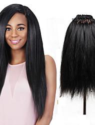 26 strands/pack Synthetic Yaki Straight Hair Crochet Braid Pre Looped Yaki Hair Piece Synthetic Braiding Hair 18inch Extension