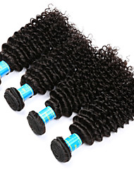 cheap -Indian Kinky Curly Human Hair Weaves 4 Pieces 0.4