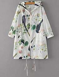 Women's Casual Soak Off Spring/Fall Summer Coat,Print V Neck ½ Length Sleeve Short Others