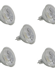 cheap -5W 380-420 lm GU5.3 LED Spotlight MR16 1 leds COB Warm White White