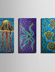 cheap -E-HOME Stretched Canvas Art Lovely Sea Creatures Decoration Painting One Pcs
