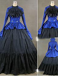 economico -Vittoriano Rococò Costume Per donna Vestiti Vestito da Serata Elegante Vintage Cosplay Other Cotone Manica lunga Ad aletta Lungo Raso