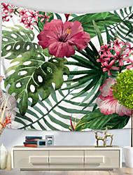 Недорогие -Цветы Декор стены 100% полиэстер Пастораль Предметы искусства, Стена Гобелены Украшение