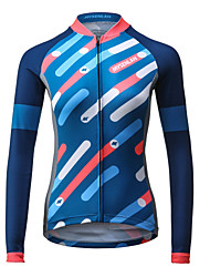 cheap -Mysenlan Women's Long Sleeve Cycling Jersey Bike Jersey, Quick Dry, Breathable Polyester