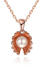 Women's Choker Necklaces Pendant Necklaces Crystal Cubic Zirconia Imitation Pearl AAA Cubic Zirconia Geometric Irregular Rose Gold