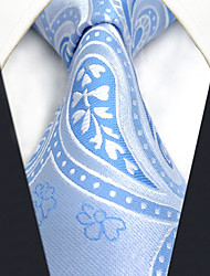 cheap -Men's Silk Necktie,Vintage Cute Party Work Casual Paisley All Seasons Blue
