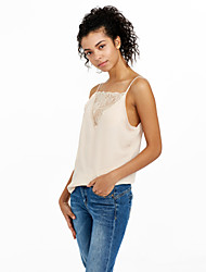 Women's Lace Going out Club Sexy Street chic Summer Tank TopPatchwork Lace Slim Backless Chiffion Strap Sleeveless
