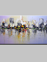 Hand-Painted Knife Oil Painting On Canvas Modern Abstract City Wall Art Picture For Home Decoration Ready To Hang