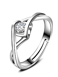 Women's Silver Plated Ring Adjustable Ring Fashion Classic Jewelry Wedding Graduation