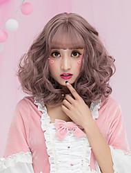 Syntetisk hår Parykker Bølget Krøllet Med bangs / pandehår Lågløs Carnival Paryk Halloween Paryk Lolita Paryk Naturlig paryk Kort Lilla