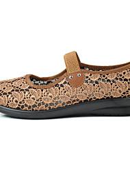 Women's Flats Walking Comfort Light Soles Tulle Cross-Seasons Summer Daily Casual Gore Flat Heel Ruby Camel Flat