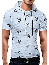 Masculino Camiseta Festa Aniversário Diário Esportes Reunião de Classe Casual Bandagem Roupa Esportiva Festa/Coquetel Simples Boho Activo
