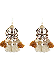 cheap -Women's Drop Earrings Jewelry Tassel Bohemian Personalized Fashion Linen/Cotton Blend Alloy Irregular Jewelry ForWedding Anniversary