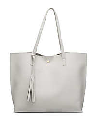 L.WEST Women's The Large Capacity Tassel Fashion And Contracted Tote