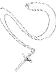cheap -Women's Cross Gold Plated Pendant Necklace  -  Fashion Silver Golden Necklace For Wedding Party Daily