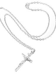 economico -Da donna Croce Di tendenza Collane con ciondolo Placcato in platino Placcato in oro Collane con ciondolo , Matrimonio Feste Quotidiano