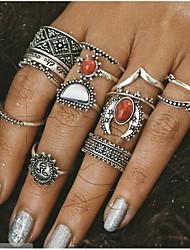 Mulheres Anéis Meio Dedo Vintage Liga Jóias Para Diário