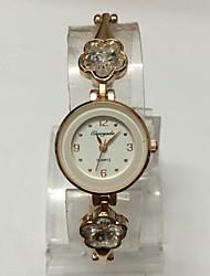Mulheres Relógio de Moda Bracele Relógio Chinês Quartzo Lega Banda Brilhante Pontos Casual Ouro Rose