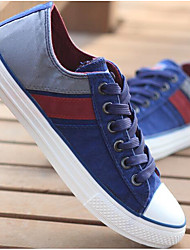 cheap -Men's Canvas Spring Comfort Sneakers Red / Blue / Khaki